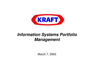 Information Systems Portfolio Management