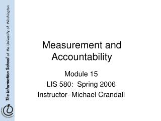 Measurement and Accountability