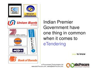 Indian Premier Government have one thing in common when it comes to eTendering