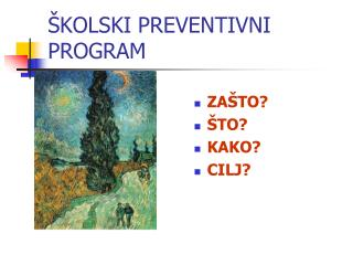 ŠKOLSKI PREVENTIVNI PROGRAM