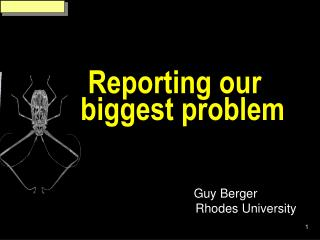 Reporting our biggest problem