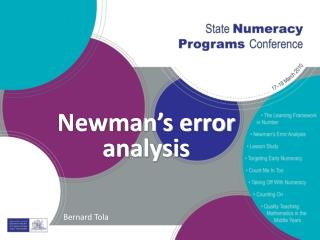 Newman's error analysis