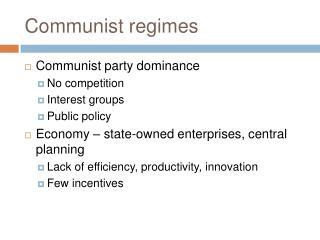 Communist regimes