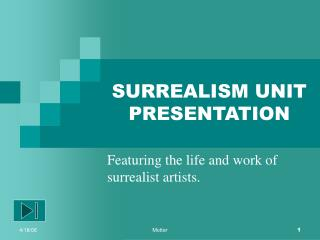 SURREALISM UNIT PRESENTATION