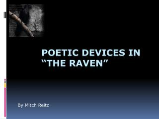 "Poetic devices In ""The Raven"""
