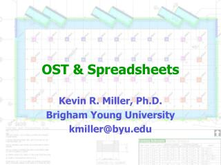 OST & Spreadsheets