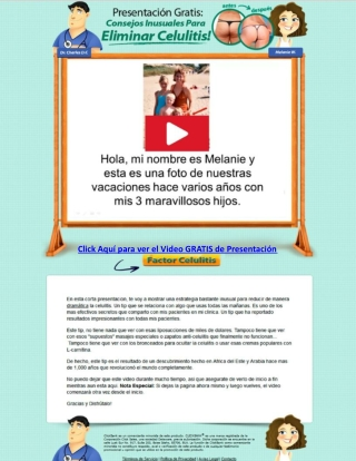 Factor Celulitis Video de Presentacion