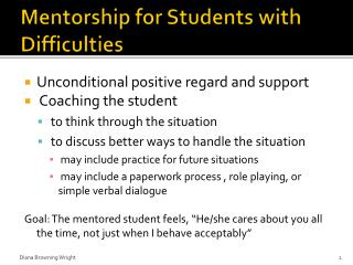 Mentorship for Students with Difficulties