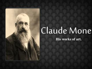 great works of claude monet