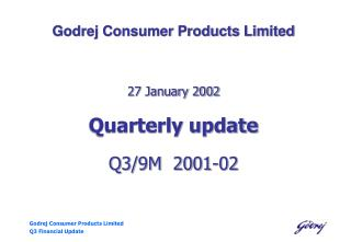 Godrej Consumer Products Limited