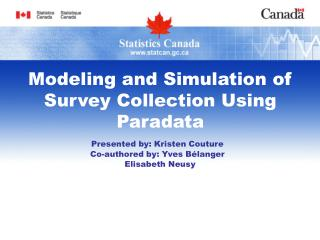 Modeling and Simulation of Survey Collection Using Paradata