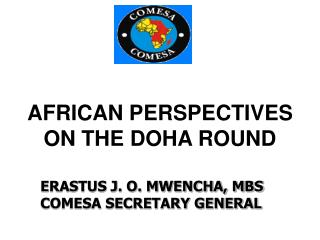 AFRICAN PERSPECTIVES ON THE DOHA ROUND