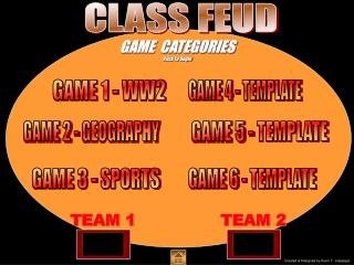 GAME  CATEGORIES Click To Begin