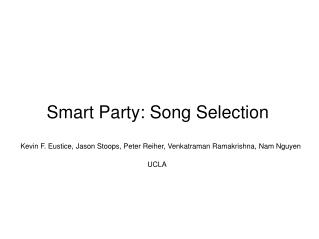Smart Party: Song Selection