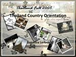 Thailand Country Orientation