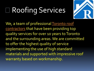 Great Roofing Repair Services in Toronto