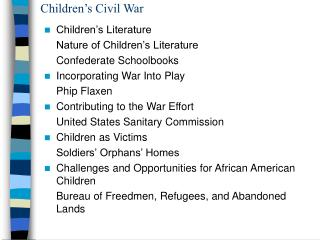 Children's Civil War