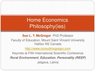 Home Economics  Philosophy( ies )