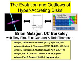 The Evolution and Outflows of Hyper-Accreting Disks