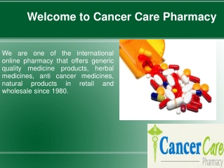 Buy Anti Cancer Drugs - Get Affordable Range of Anti Cancer