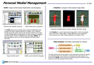 Video Analysis:  Annotation technology for retrieval
