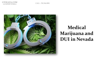 Medical marijuana and DUI in Nevada
