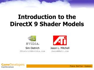 Introduction to the DirectX 9 Shader Models