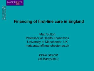 Financing of first-line care in England