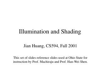 Illumination and Shading