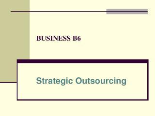 BUSINESS B6