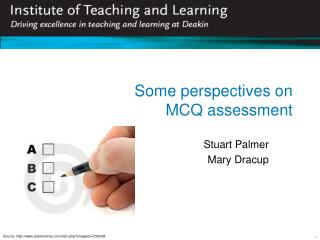 Some perspectives on MCQ assessment