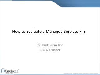 how to evaluate a managed services firm