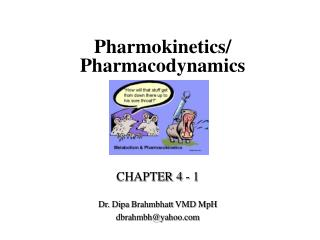 Pharmokinetics/ Pharmacodynamics