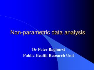 Non-parametric data analysis