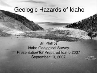 Geologic Hazards of Idaho