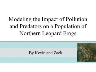 Modeling the Impact of Pollution and Predators on a Population of Northern Leopard Frogs