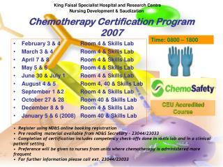 Chemotherapy Certification Program 2007