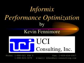 Informix Performance Optimization