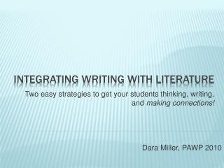 Integrating Writing with Literature