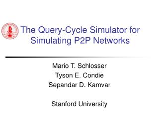 The Query-Cycle Simulator for Simulating P2P Networks