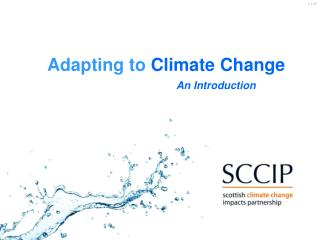 What is Climate Change Adaptation?