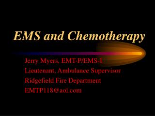 EMS and Chemotherapy