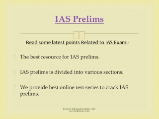 Latest point about IAS Prelims
