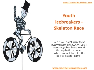 Youth Icebreakers - Skeleton Race