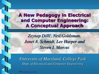 A New Pedagogy in Electrical and Computer Engineering:  A Conceptual Approach