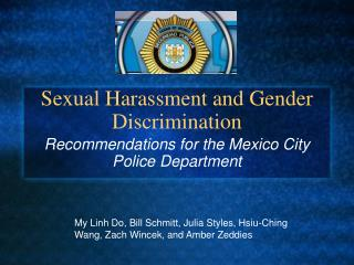Sexual Harassment and Gender Discrimination