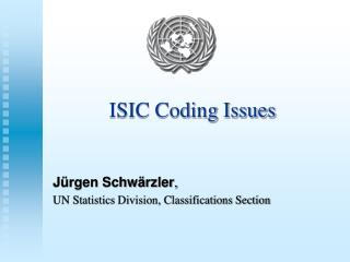 ISIC Coding Issues