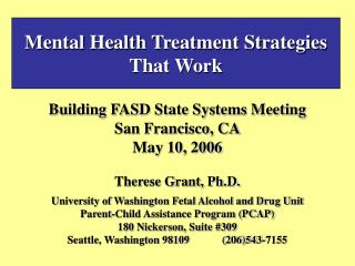 Mental Health Treatment Strategies That Work