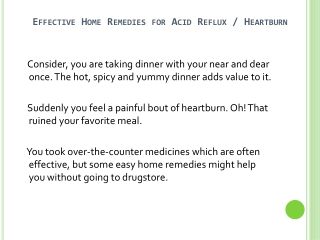 Home Remedies For Acid Reflux