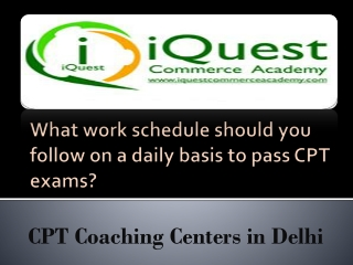 What work schedule should you follow on a daily basis to pas